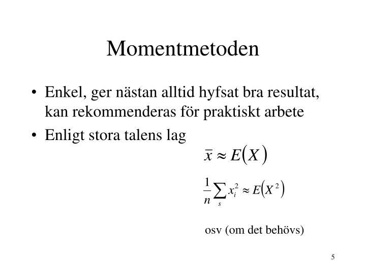 Momentmetoden