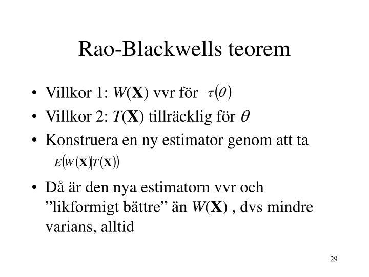 Rao-Blackwells teorem