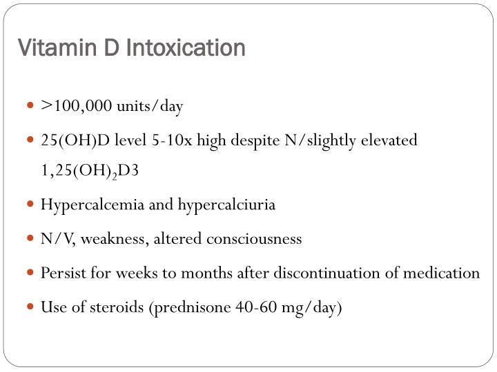 Vitamin D Intoxication