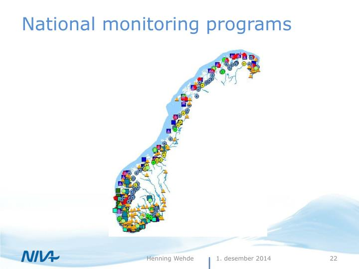 National monitoring programs