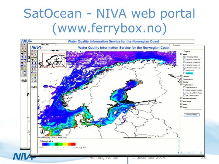 SatOcean - NIVA web portal (www.ferrybox.no)