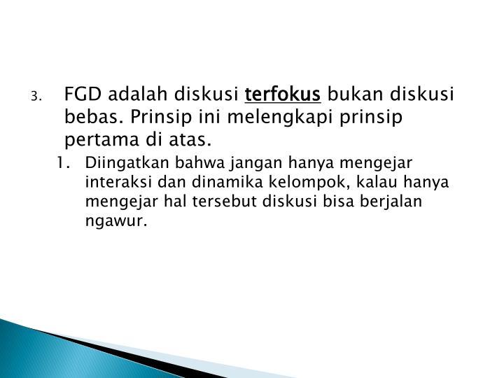 FGD adalah diskusi