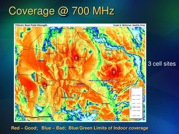 Coverage @ 700 MHz