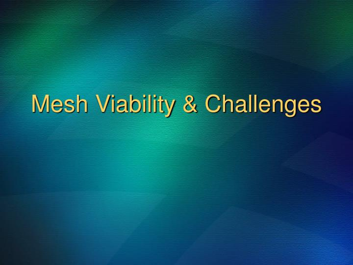Mesh Viability & Challenges