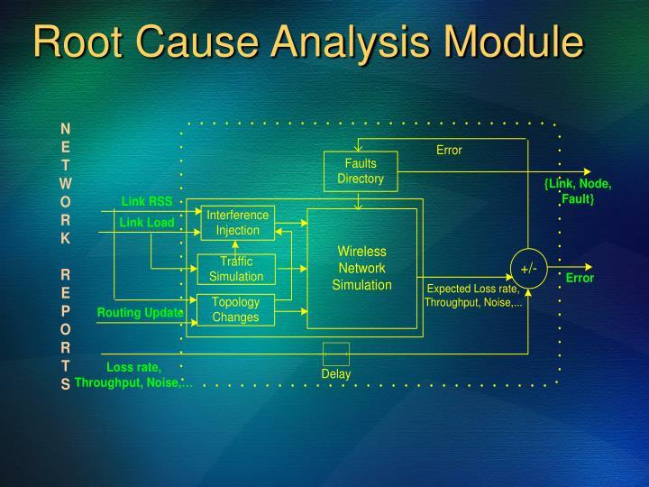 Root Cause Analysis Module