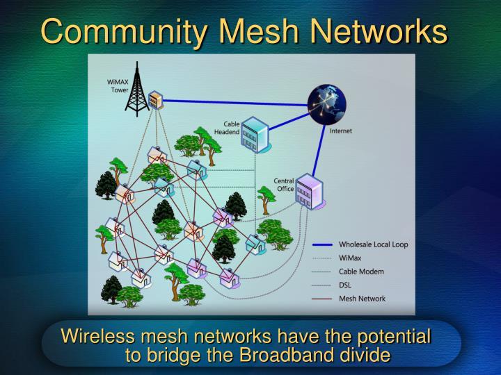 Community Mesh Networks