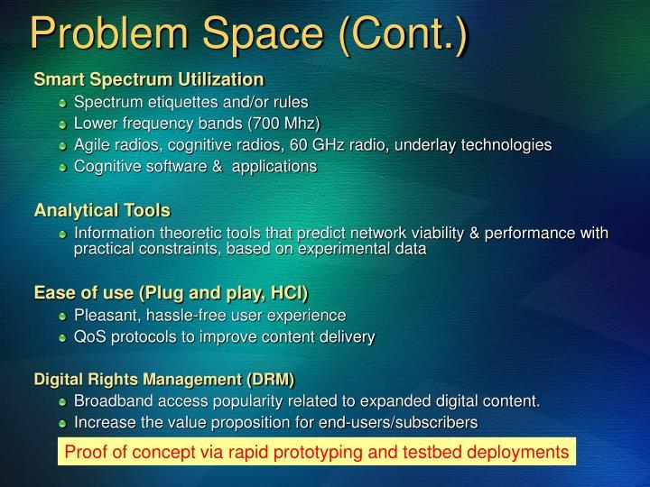 Problem Space (Cont.)