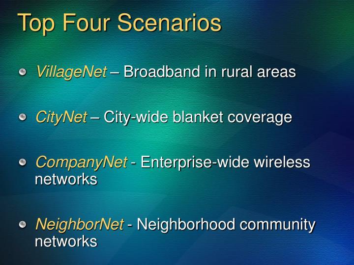 Top Four Scenarios