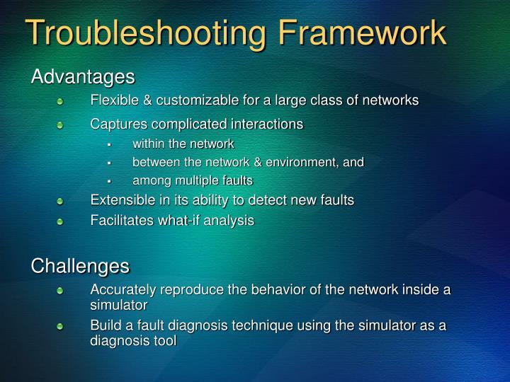 Troubleshooting Framework