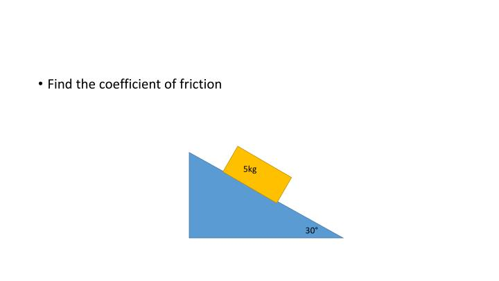 Find the coefficient of friction
