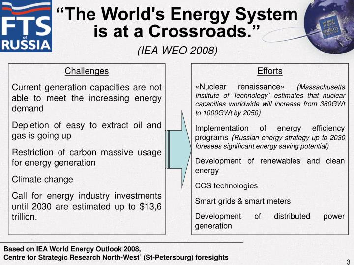 The world s energy system is at a crossroads iea weo 2008
