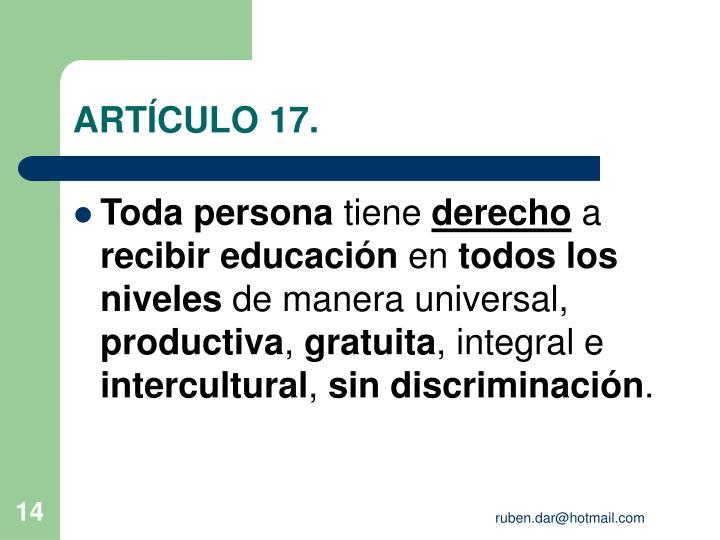 ARTÍCULO 17.