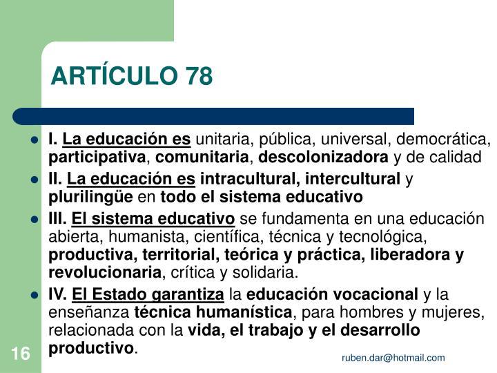 ARTÍCULO 78
