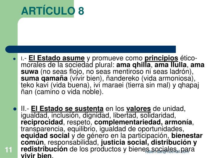 ARTÍCULO 8