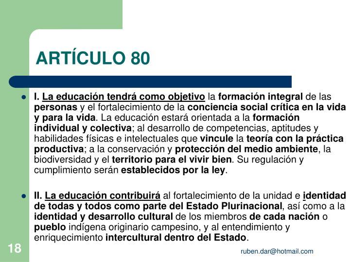 ARTÍCULO 80