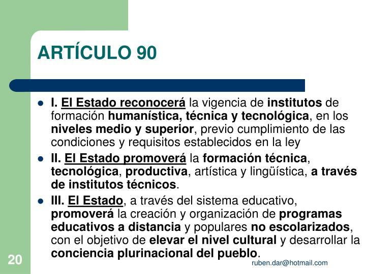 ARTÍCULO 90