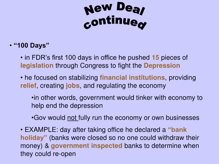 fdr s the new economy stabilizing the Was necessary to rationalize and stabilize the economy new deal or raw deal: how fdr's economic legacy new era through new deal.