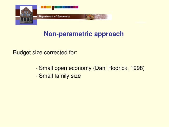 Non-parametric approach