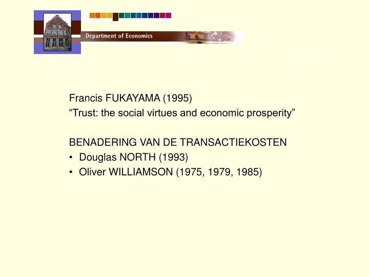 Francis FUKAYAMA (1995)