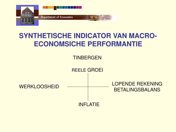 SYNTHETISCHE INDICATOR VAN MACRO-ECONOMSICHE PERFORMANTIE