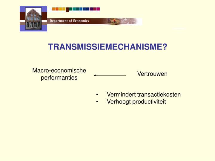 TRANSMISSIEMECHANISME?