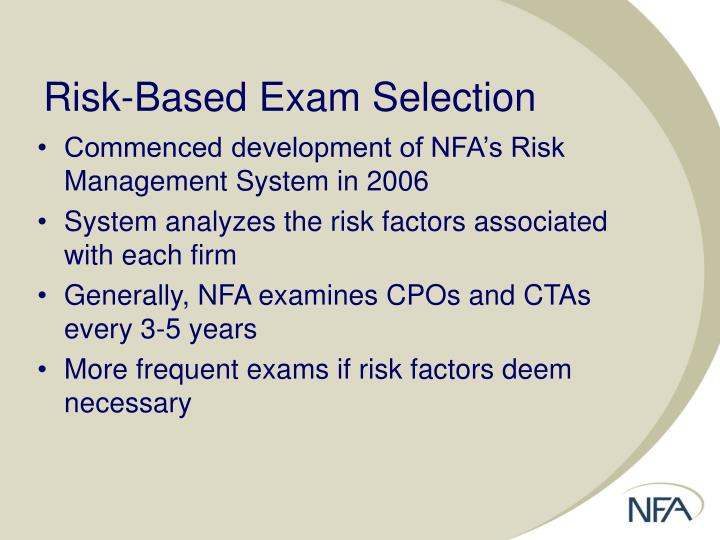 Risk-Based Exam Selection