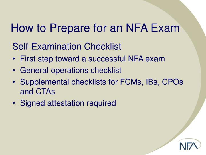 How to Prepare for an NFA Exam