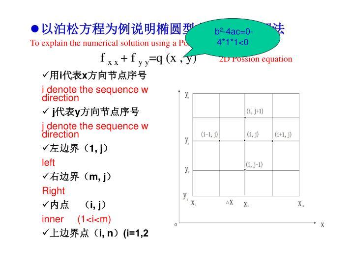 以泊松方程为例说明椭圆型方程的数值解法