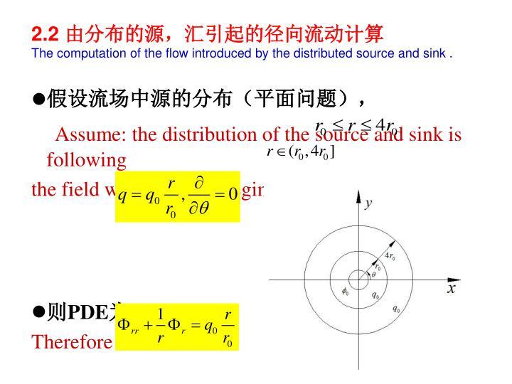 假设流场中源的分布(平面问题),