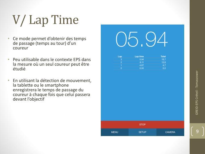 V/ Lap Time
