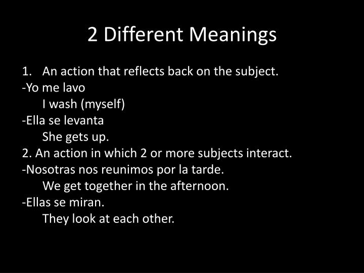 2 Different Meanings