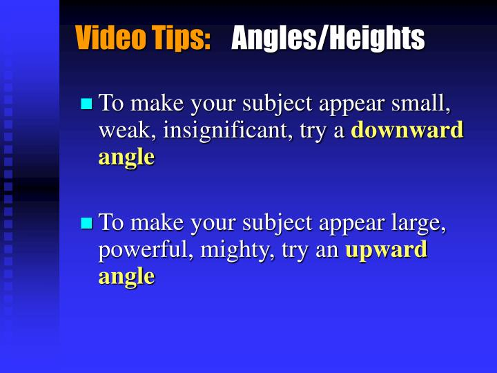 Video Tips: