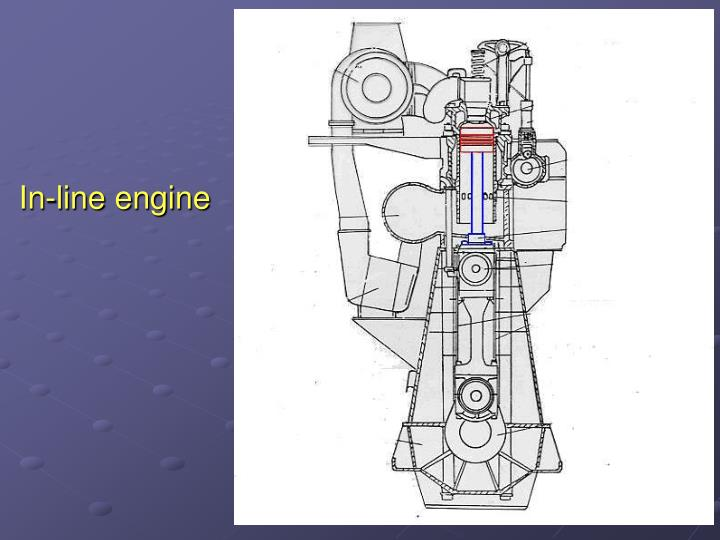In-line engine
