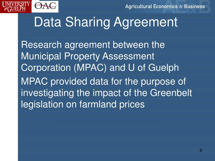 Data Sharing Agreement