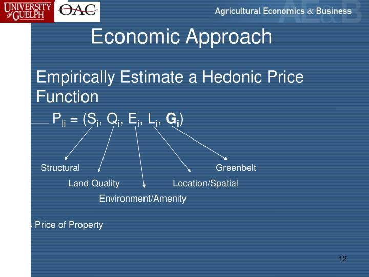 Economic Approach