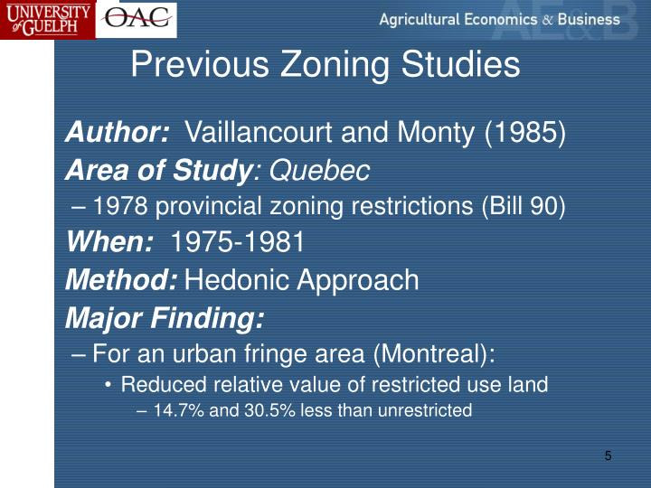 Previous Zoning Studies