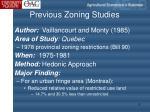 previous zoning studies