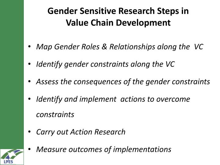 Gender Sensitive Research Steps in