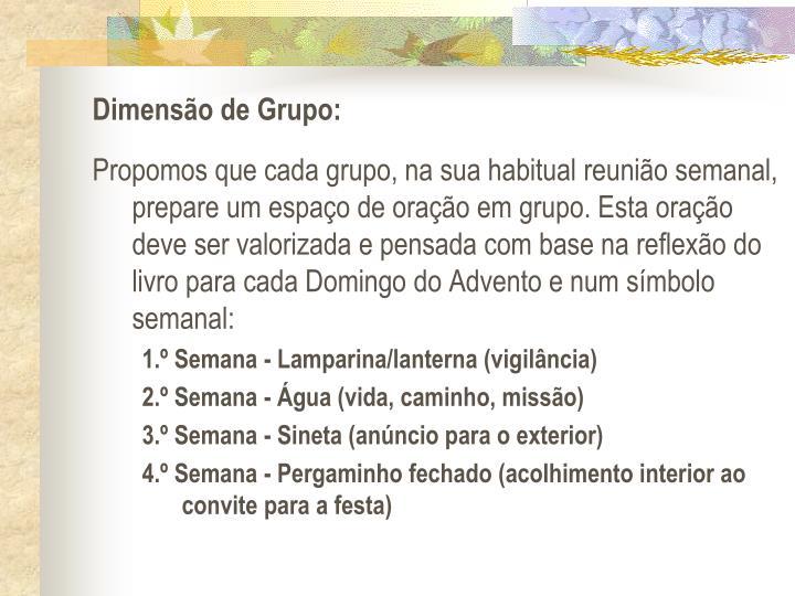 Dimenso de Grupo: