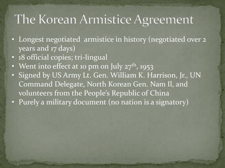 The Korean Armistice Agreement