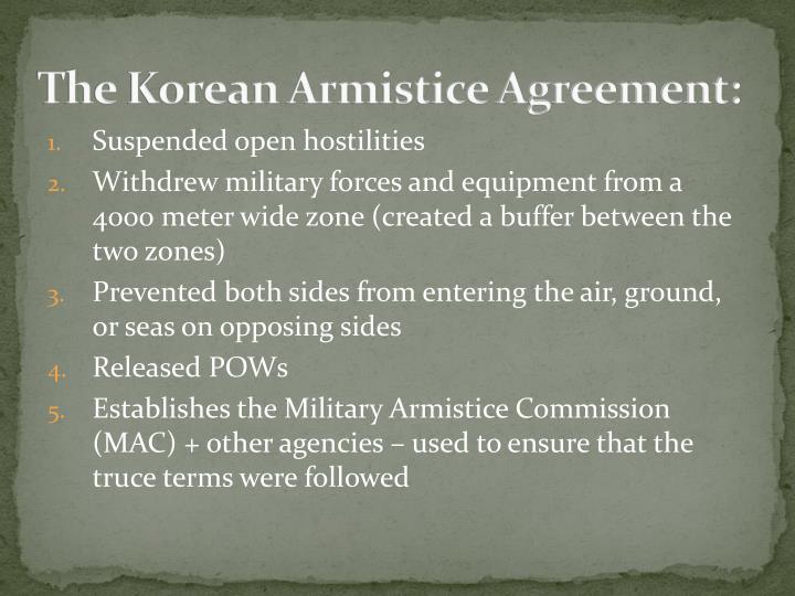 The Korean Armistice Agreement: