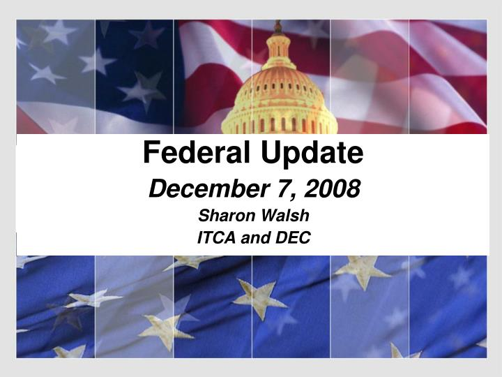 Federal update december 7 2008 sharon walsh itca and dec