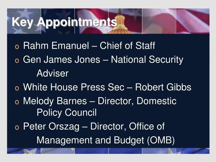 Key Appointments