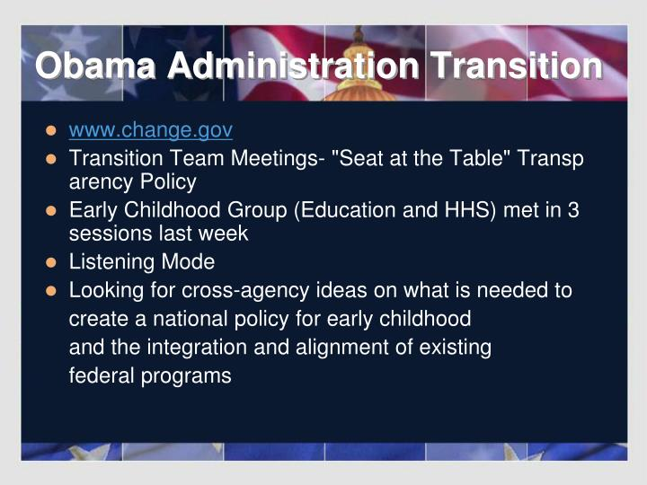 Obama administration transition