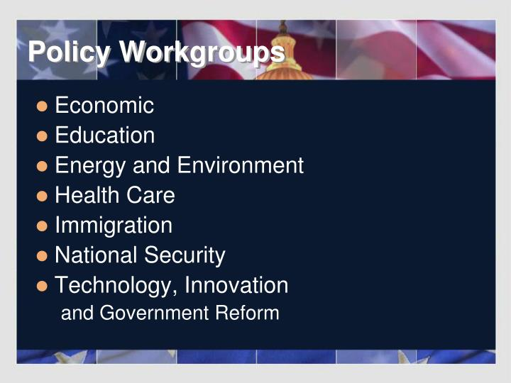 Policy Workgroups