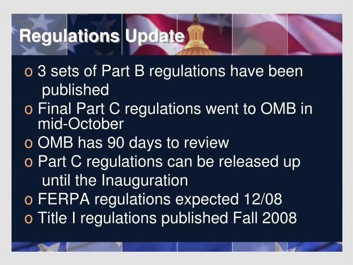 Regulations Update