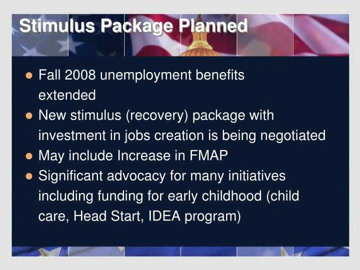 Stimulus Package Planned