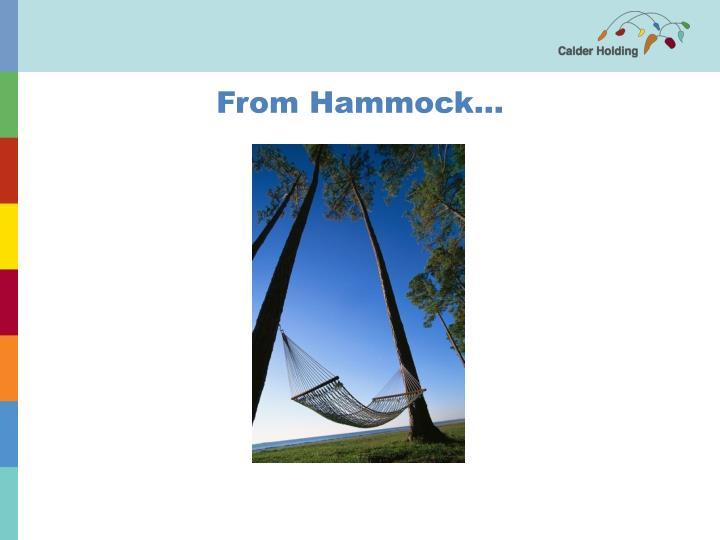 From Hammock...
