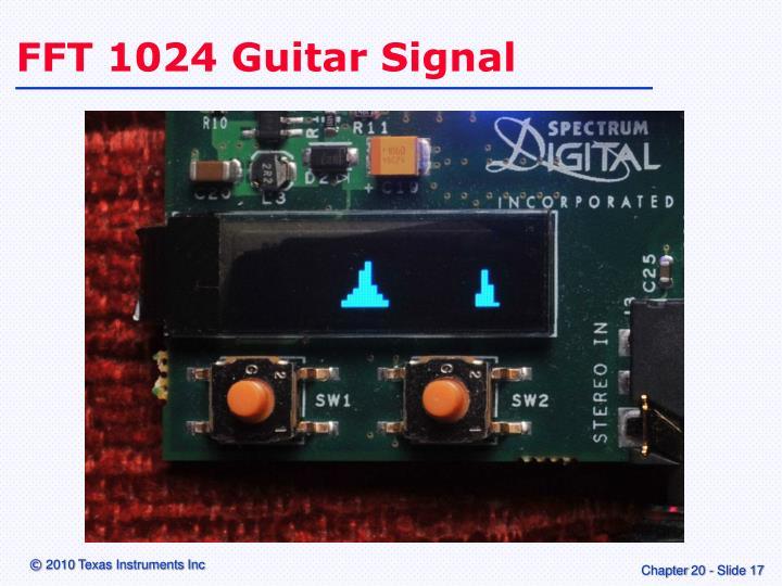 FFT 1024 Guitar Signal