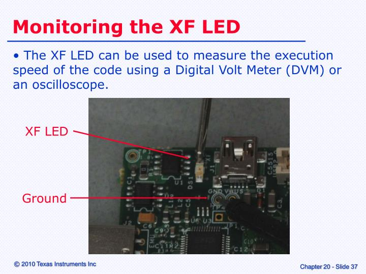 Monitoring the XF LED